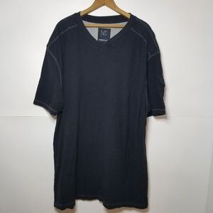 Mens Modern Culture Distressed V Neck Cotton Tee